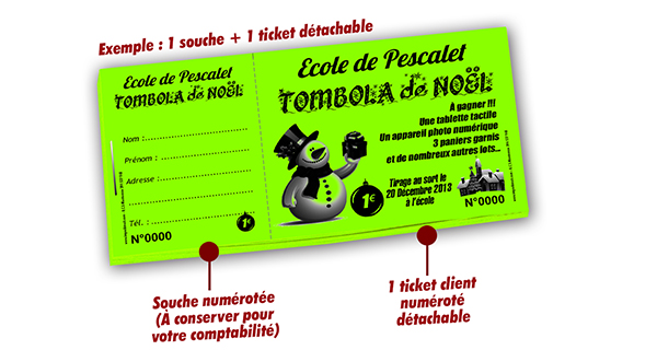 tickets tombola noel pas cher pescalet