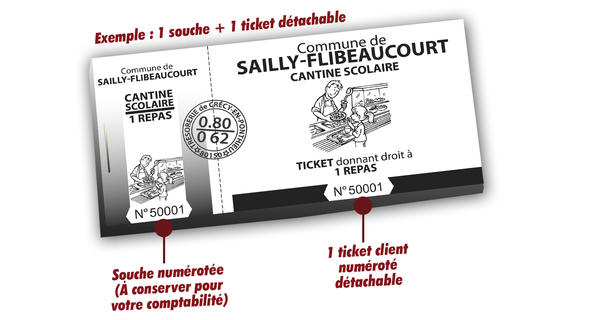 tickets de cantine scolaire sailly