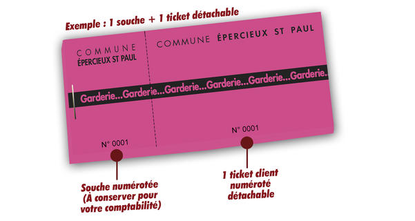 imprimer tickets de garderie st paul