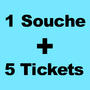 Impression carnets à SOUCHE + 5 TICKETS DETACHABLE