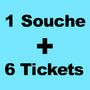 Impression carnets à SOUCHE + 6 TICKETS DETACHABLE
